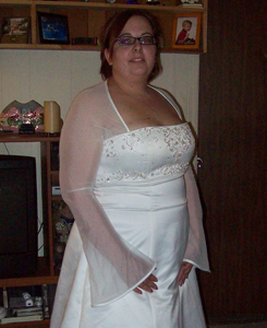 i i bought my wedding dress and it fits perfect i am a big girl to begin with so i am hoping i dont gain to much wieght but i will