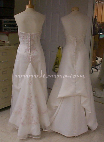 Here Is A View Of The 2 Pick Up Bustle Styles Each Bride Chooses What They Think Looks Best Either Gown Would Look Fine With Design