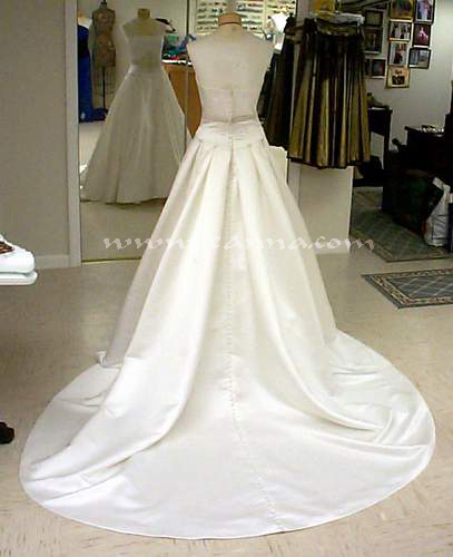 For This Gown I Advised We Use Satin Covered Buttons Because The Already Had Them And It Usually Looks Best When There Is No Decoration At Waist To